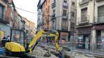 En este cruce de la calle Goya con el Coso las obras sí estarán listas para permitir el paso de las procesiones.