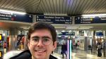 David Sanz, en el aeropuerto de Chicago.