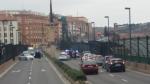 Control de la Policía Local en Teruel en el Viaducto Nuevo.