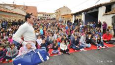 Rafa Maza con su actuación 'Solo Fabiolo' en el IX Gaire, en Pancrudo.