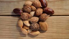 Variedad de frutos secos.
