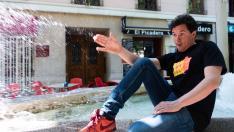 El actor Rafa Maza, en Zaragoza
