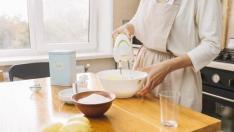 Preparación para la tarta de limón.
