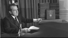 El presidente de Estados Unidos Richard Nixon