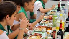 Almuerzos en San Lorenzo.