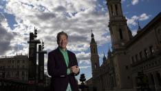 Michael Portillo en la plaza del Pilar.