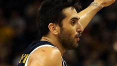 Berlin (Germany), 06/02/2020.- Real Madrid's Facundo Campazzo gestures during the Euroleague basketball match between Alba Berlin vs Real Madrid at the Mercedes Benz Arena in Berlin, Germany, 06 February 2020. (Baloncesto, Euroliga, Alemania) EFE/EPA/HAYOUNG JEON Alba Berlin vs Real Madrid