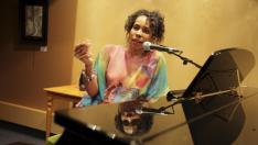 Ludmila Mercerón, presentando su disco en Ámbito Cultural.