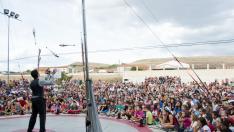 Actuación durante el Festival de Artes Escénicas Gaire, en Pancrudo, Teruel