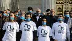 Otra protesta contra la Ley Mordaza frente al Congreso de los Diputados.