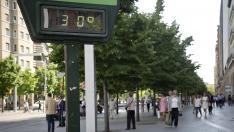 Foto de archivo de un termómetro en Zaragoza