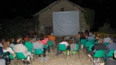 El público en una proyección de la Muestra de Cine más pequeña del mundo