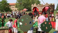 El mercado medieval de la Ciudadela ha sido uno de los eventos del festival.