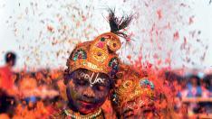 El Holi más ecológico en la India