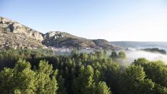 Vistas de la Sierra de Albarracín desde globo aerostático
