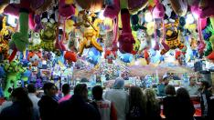 Ambiente festivo en el recinto ferial de Valdespartera durante los Pilares del año pasado.