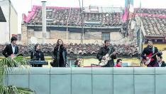 Imagen de un concierto tributo a los Beatles en Las Armas.