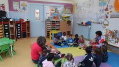 Aula de 2 años en el colegio San Braulio de Zaragoza