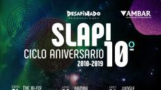 Cartel ciclo 10 aniversario Slap