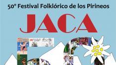 Cartel festival folclórico de los Pirineos