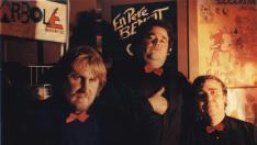 Pablo Girón, Iñaqui Juárez y Esteban Villarrocha, los socios de Arbolé, en los años 80.