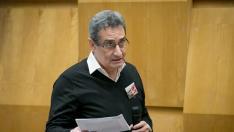 Julio Calvo, en una intervención en el pleno de Zaragoza en febrero