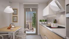 Las cocinas cuentan con un equipamiento integral de electrodomésticos.