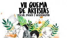 Cartel Quema de artistas 2019.