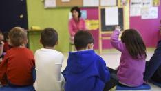 Niños de primaria en un colegio aragonés.