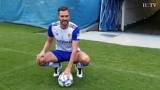 El jugador andaluz Pichu Atienza ya es parte de la plantilla del Real Zaragoza. El futbolista, de 29 años, ha sido presentado este lunes en el estadio de La Romareda de la capital aragonesa.