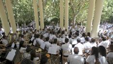 Fiestas de San Lorenzo 2012- Concierto de la banda municipal en el quiosco del parque   /Foto Rafael Gobantes / 12.8.12