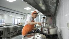 Colegio Zaragoza Sur. Nueva cocina 'in situ' / 24-01-2019 / FOTO: GUILLERMO MESTRE [[[FOTOGRAFOS]]]