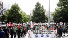 Huelga de profesores por la reducción de la jornada lectiva en mayo de 2019.