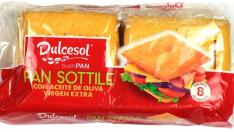 Dulcesol Pan Sottile - Con aceite de oliva virgen extra.