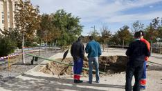 Sima en Parque del Oeste/10-11-2012/ Foto: Asier Alcorta