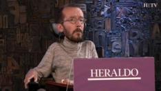 Minuto de oro de Pablo Echenique, candidato de Unidas Podemos al Congreso por Zaragoza en el debate de HERALDO.