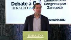 Minuto de oro de Pedro Fernández, candidato del Vox al Congreso por Zaragoza en el debate de HERALDO.