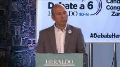 Minuto de oro de Carmelo Asensio, candidato de Más País-CHA-Equo al Congreso por Zaragoza en el debate de HERALDO.