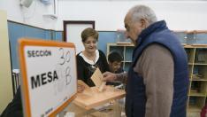 COLEGIO LA JOTA ELECCIONES GENERALES 2019 COLEGIOS ELECTORALES /28-04-2019 / FOTO: ARANZAZU NAVARRO [[[FOTOGRAFOS]]]
