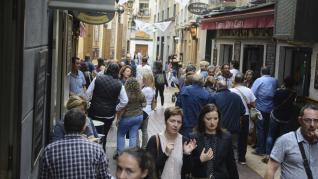 Ambiente en los bares y terrazas del Casco Histórico