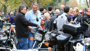 Concentración motera en homenaje a Ángel Nieto