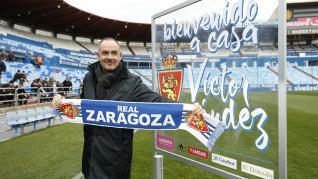 Presentación de Víctor Fernández como nuevo entrenador del Real Zaragoza