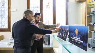 Nayim, exjugador del Real Zaragoza, visita HERALDO DE ARAGÓN.