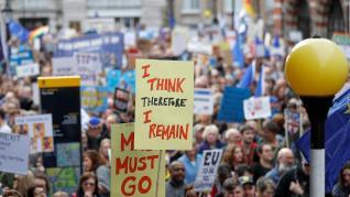 Londres vive la mayor movilización contra el Brexit de la historia.