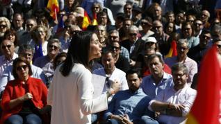 Mitin electoral de Ciudadanos en el Parque Grande de Zaragoza