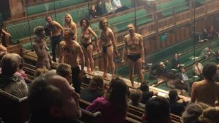 Striptease en la Cámara de los Comunes