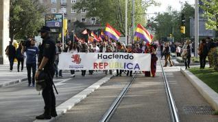 Manifestación en conmemoración de la proclamación de la Segunda República