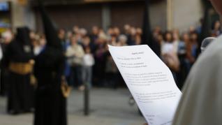 Procesión del Silencio del Domingo de Ramos en Zaragoza