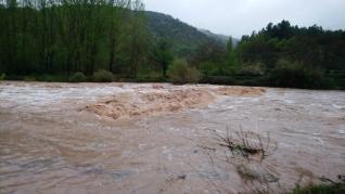 Crecida del río Mijares en Olba, Teruel.