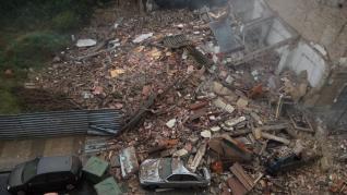 Se derrumba una casa en Barbastro